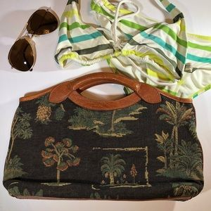 Tommy Bahama Tapestry clutch Palm Trees Tropical